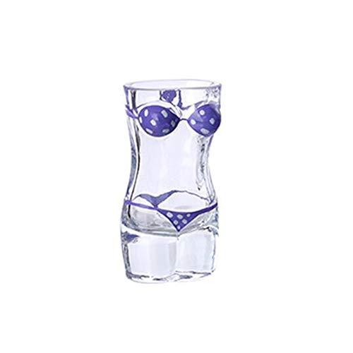 ZWRY Jarra Cerveza Taza de Cerveza única Copa de Vino Divertida Whisky Vodka Vasos de chupito Bar Copa de cóctel Forma del Cuerpo Taza Taza de Jugo de café Mujer 60ML 3