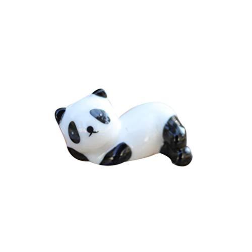 UPKOCH 4 Stücke Keramik Niedlichen Panda Stäbchen Rack Cartoon Tier Stäbchen Halter Haushalt Stäbchen Rest Küche Desktop Geschirr Liefert (Schwarz + Weiß)