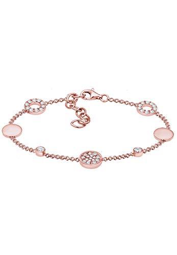 Elli Damen-Tennisarmbänder Kristall - 0204382517_16 - 16cm Länge