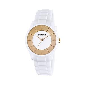 Calypso Reloj Unisex de Cuarzo con Blanco Esfera analógica Pantalla y