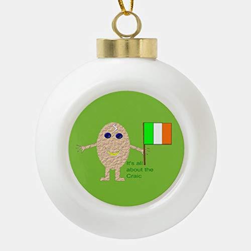 Dom576son Christmas Ball Ornaments, Patriotic Irish Egg Ornament, Shatterproof Christmas Decorations Tree Balls for Holiday Wedding Party Decoration