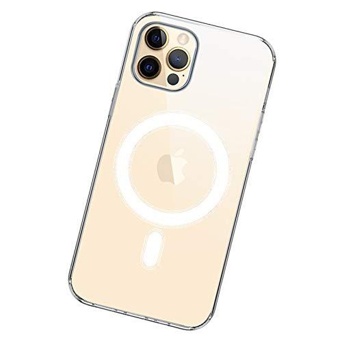 RRCZ Funda telefónica de Carga inalámbrica de Apple, para teléfono 12,12 Mini, 12 Pro, 12 Pro MAX, Airbag Anti-Drop Protection Transparent Shell 12 Pro