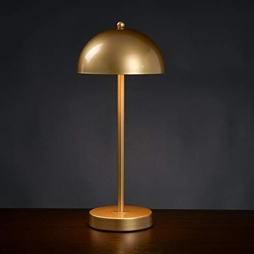 KRASTY Modern Gold Small Table Lamp,G9 Bulb Socket Bedside Lamp with Metal Shade for Living Room Bedroom