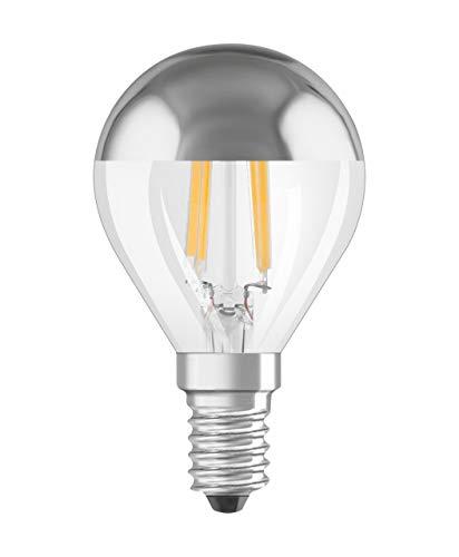 OSRAM LED STAR MIRROR CLASSIC P 33 FS DIM Warmweiss Filament Silber Verspiegelt E14 Tropfen