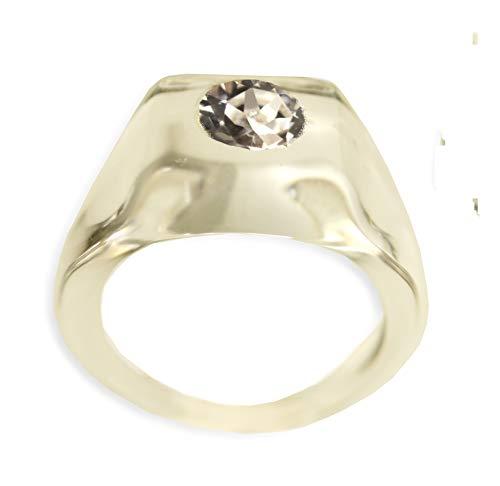 Anello quadrato trasparente in cristallo acrilico Perspex fatto a mano 100% Vintage con punto luce Swarovski misura extra large