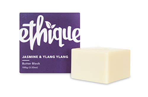 Ethique Eco-Friendly Solid Butter Block, Jasmine & Ylang Ylang - Hydrating Solid Body Lotion, Sustainable Natural Lotion Bar, Plastic Free, Vegan, Plant Based, 100% Compostable and Zero Waste, 3.53oz