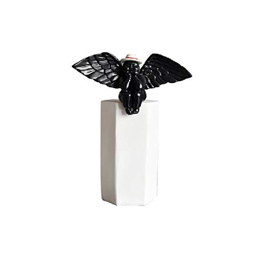 Beeldhouwwerksculptuur Ornamenten Standbeeld Ornamentzwart Wit Engel In De Hoed Hars Modern Woondecoratie Kunst Decoratie Decoratie Ornamenten Beelden
