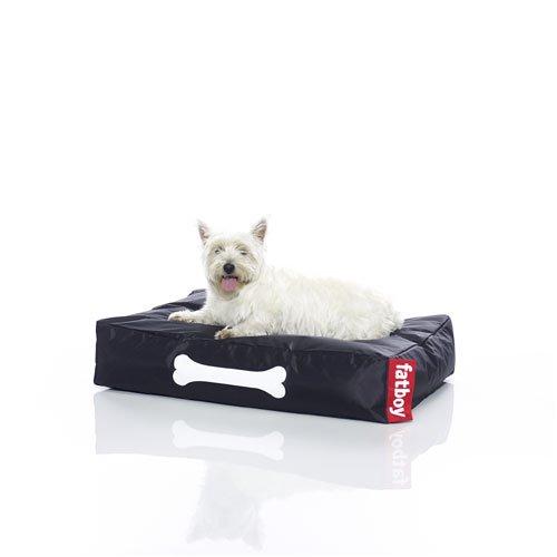 Fatboy® Doggielounge Small schwarz | Kleines Nylon-Hundekissen | Abwaschbares Hundebett für kleine Hunde | 60 x 80 x 15 cm