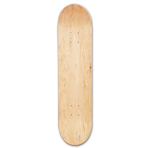 Erwachsene Jugend-Standard-Skateboards, Klassisches Skateboard, Arcade Skateboard, 8inch 8-Layer-Skateboards Natur Skate Deck Brett Skateboards Deck Holz Ahorn