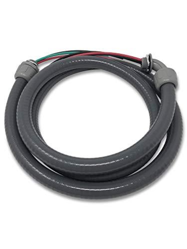 "Halex 69126, Power AC, Non Metallic Liquid Tight, Conduit Whip, 1/2"" x 6', 1 Per Pack, Gray"