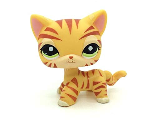 WOOMAX Juguete LPS Littest Pet Shop Leopard Pussy Tiger Cat Kitten Kitty Green Eyes Collection Juguetes para ni?os Cumplea?os Chirstmas Gift