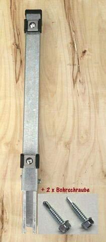 Verlängerung Zaun Zaunpfosten Erhöhung Aufstocken Doppel Stab Matten verzinkt 40 cm.