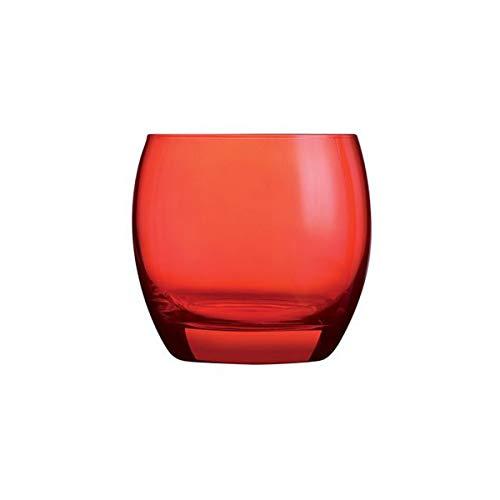 Visiodirect Lot DE 24 gobelets Forme Basse Salto Rouge - 32cl