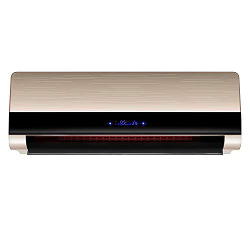 QINGMM Calefactor de Pared, 3000 W, con Mando a Distancia, 2 Niveles de Potencia y Modo Ventilador, con Pantalla de Temperatura y función de Temporizador, oscilación