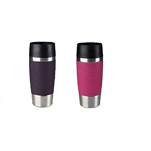 Emsa Standard-Design Travel Mugs, brombeer/himbeer, 2 x 360ml