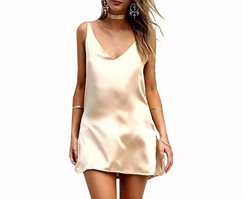 Summer New Deep V-Neck Sexy Solid Color Dress Bretelle Jumpsuit Jupe TrapèZe