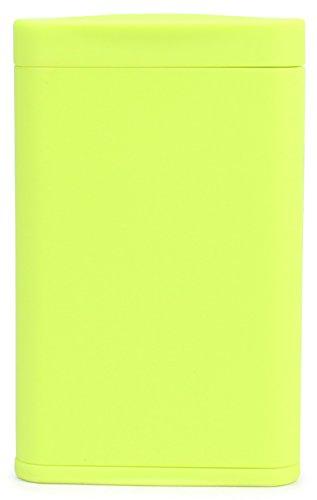 Dreams(ドリームズ) 携帯灰皿 ポケットアッシュトレイ スリム ハニカム 4本収納 ライトグリーン MDL45288 高さ7.9cm×幅5.0cm×厚さ1.4cm