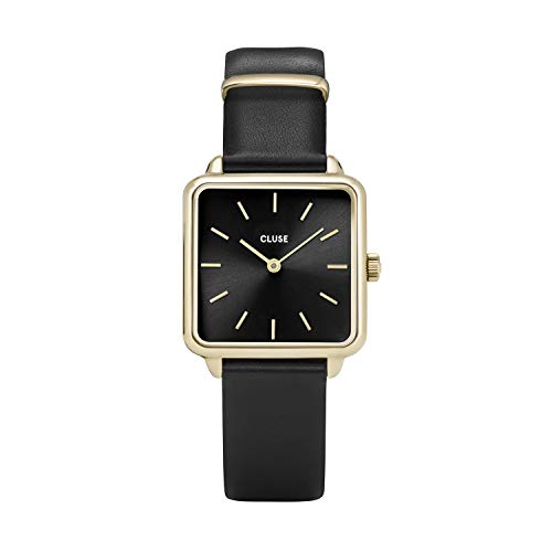Cluse Damen Analog Quarz Uhr mit Leder Armband CL60008