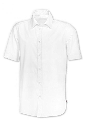 BP 1564-682 heren hemd 1/2 mouw uit gemengde stof met stretch-aandeel wit, maat 47-48