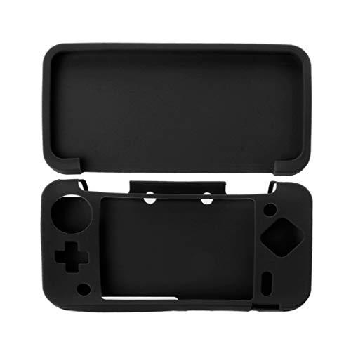 JENOR Coque de protection en silicone pour Nintendo Nintend 2DS XL LL 2DSXL 2DSLL Taille unique Noir