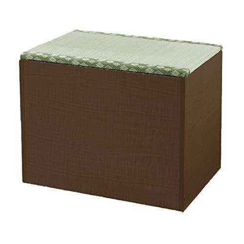 畳ボックス収納 畳 収納 ボックス 畳ベンチボックス 日本製 畳収納ペンチ い草グリーン 幅60cm 置き畳 国産 和室 部屋 模様替え リフォーム DIY(ブラウン)