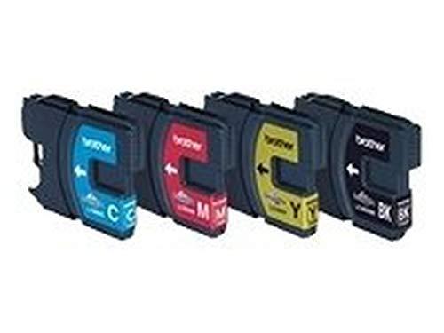 Brother LC980 Original Tintenpatronen Value Pack (schwarz, gelb, cyan, magenta) für verschiedene Brother MFC- und DCP-Drucker