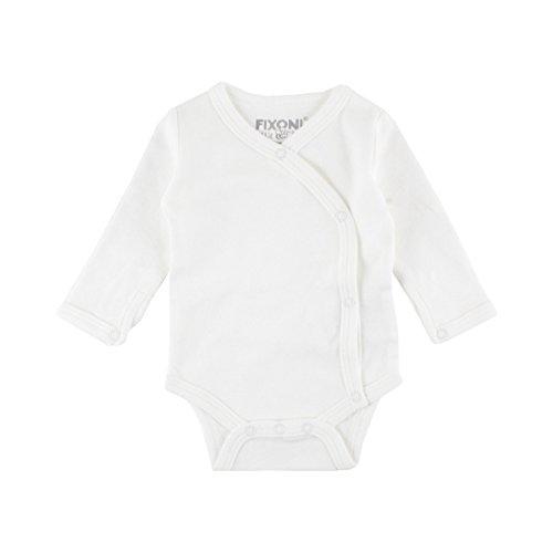 FIXONI LITTLE BEE Le body portefeuille à manches longues prématuré bébé, naturel