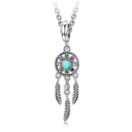 GDDX Bohemian Dream Catcher Necklaces 925 Sterling Silver Pendant Jewelry (Necklace)