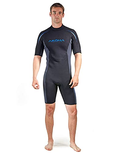 AKONA Men's 3mm Tropical Water Shorty Wetsuit. Scuba