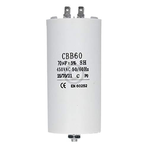 Kondensator mit Steckfahnen und Befestigungsschraube CBB60 70,00µF 450 Volt