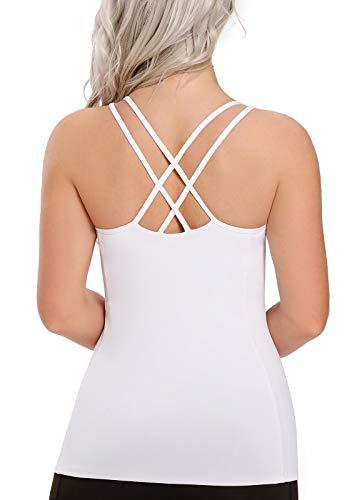 FITTOO Débardeur Femme Yoga Gilet Sport T-Shirt Extensible Sans Manches Dos Nu Top Sexy Pour Sport Fitness Gym Running Veste