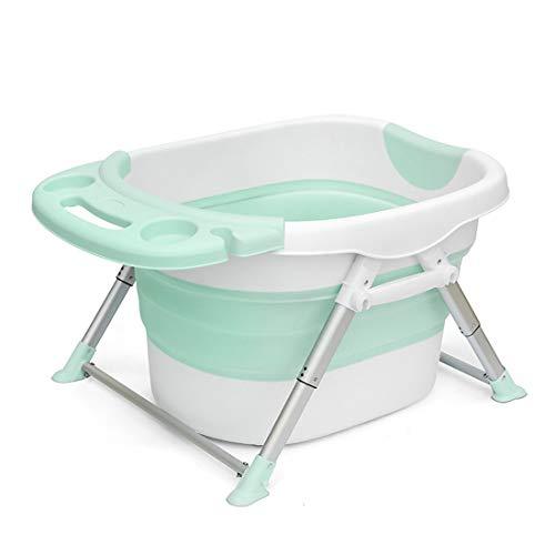 YUYAXBB opvouwbare baby opvouwbare bad, baby inklapbare draagbare douche wastafel afneembare bad kruk multifunctionele hoge capaciteit dik en duurzaam voor gemakkelijk zwemmen reizen