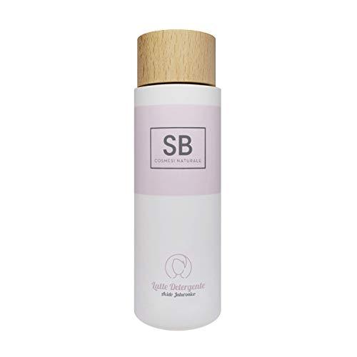 Seta Beauty Lait nettoyant avec acide hyaluronique, eau active de raisin et grenade 200 ml. Hydratant drainant et tonifiant adapté aux peaux sèches mixtes et grasses.