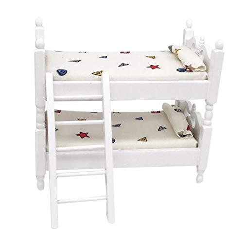 Eamoney 1:12 Miniature:Bed Mini Dollhouses Accessory DIY Dollhouse Dcor Toy House Model Kids Toy