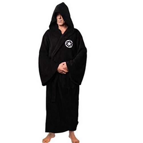 Jedi Knight Robe Fleece Roben Star Wars Bademantel Cosplay Set Für Mann Und Frauen (m, Schwarz) 1pc
