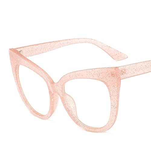 ShSnnwrl Único Gafas de Sol Sunglasses Monturas De Gafas De Ojo De Gato para Mujer, Montura Grande De Diseñador para Gafas para H