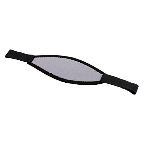 perfk wasserdichte Maskenband Tauchmaskenband für Tauchbrille Schnorchelbrille Schwimmbrille - Grau