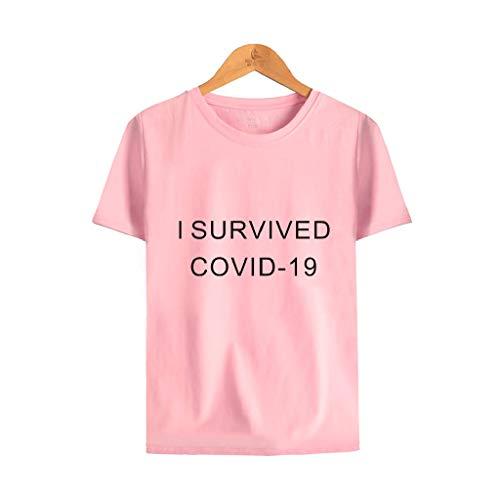 LXHcool Cov_id 19 Survivor 2020 - 2020 Distanza Quarantena Salute 15 piedi (Colore: Rosa, Taglia M: M)
