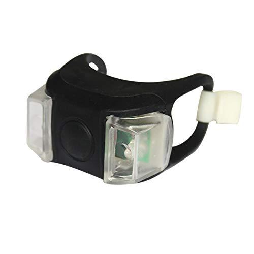 FSHB 1pc Fahrrad Fahrradleuchte LED Rücklicht Wasserdicht Rücklicht Sicherheitswarnung Fahrradleuchte USB Wiederaufladbar 4 Modi Lampe, Frosch 01
