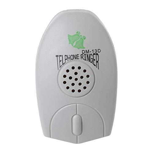 QERMULA Amplificador, Timbre de teléfono de línea Fija, Timbre de teléfono Extra Fuerte para el Viejo Timbre de Timbre de teléfono Anciano Beige