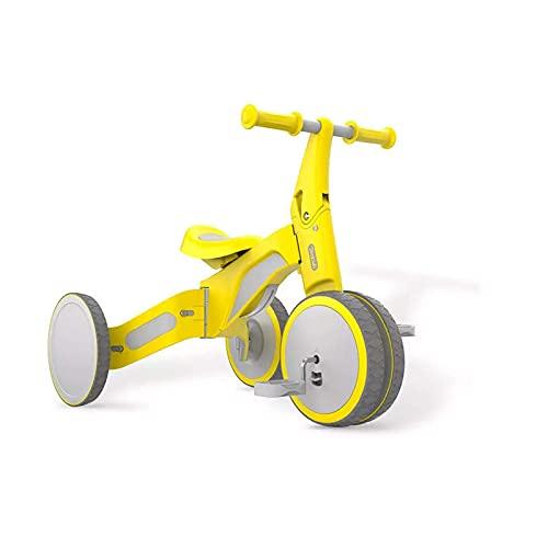 LINQ Scooter de Triciclo Infantil, sin ángulos Afilados, diseño de Rueda Todo Incluido, Bicicleta con diseño de Manillar Suave, Amarillo (Color : Yellow)
