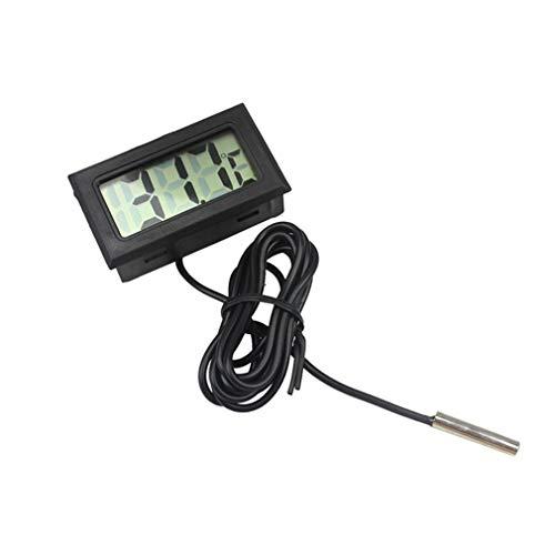 HehiFRlark - Medidor de temperatura de agua para frigorífico de tanque de peces de termómetro electrónico electrónico