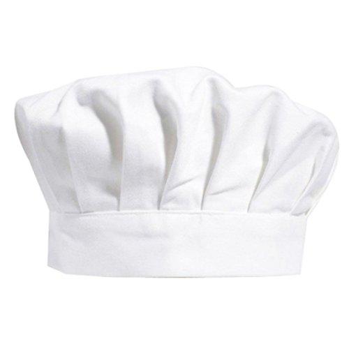 Chytaii Toque de Chef Cuisinier Bonnet Chapeau de Cuisine Pâtissier Blanc pour Enfants