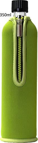 Biodora Dora´s Glasflasche mit Neoprenbezug (grün, 350ml)