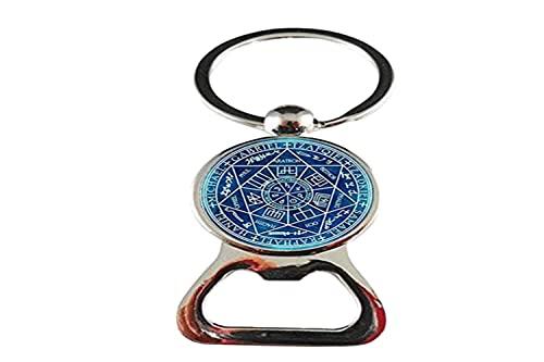 Abrebotellas de vidrio vintage siete arcángeles foto amuleto joyería amigo regalos