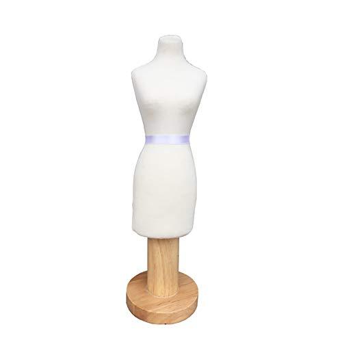 HLR Schneiderpuppen Mini Maßstab 1: 4 Female Modeschöpfern Dummy, Kleiderform-Mannequin Puppen Puppenhaus Dekoration Zubehör, Holzgestell