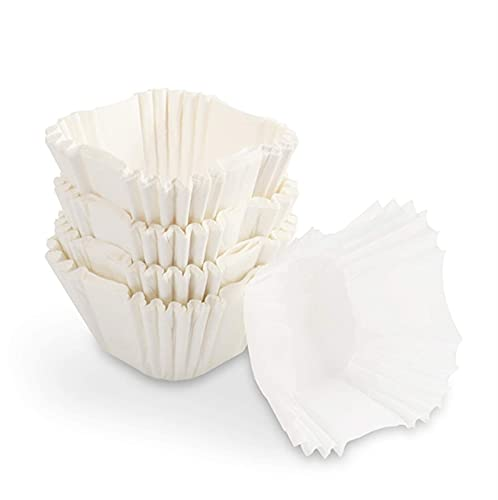 CHEFMADE Standard White Cupcake Liners 300 Count, No Smell, Food Grade & Grease-Proof Baking Cups Paper Square