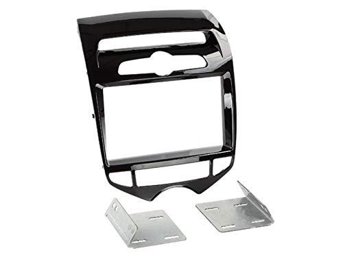 Radioblende Doppel-DIN 2-DIN Blende Piano schwarz für Hyundai ix20 (JC) ab 11/2010 mit automatischer Klimaanlage