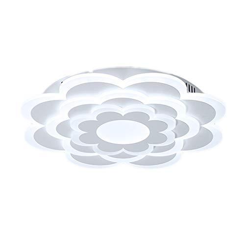 Lámpara de techo LHY LED Lámpara de Sala Lámpara de Dormitorio de Ambiente Moderno Simple Lámpara de habitación Creativa romántica cálida Exquisito (Color : White Light, Size : 80 * 80 * 5cm)