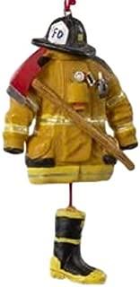Kurt Adler 4.5- Firefighter Uniform Christmas Ornament